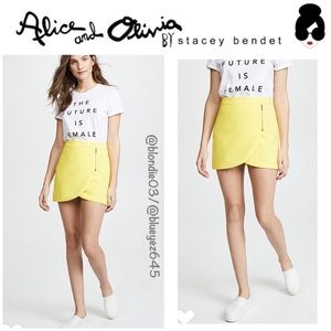 "Alice + Olivia ""Lennon"" lemon skirt 2"